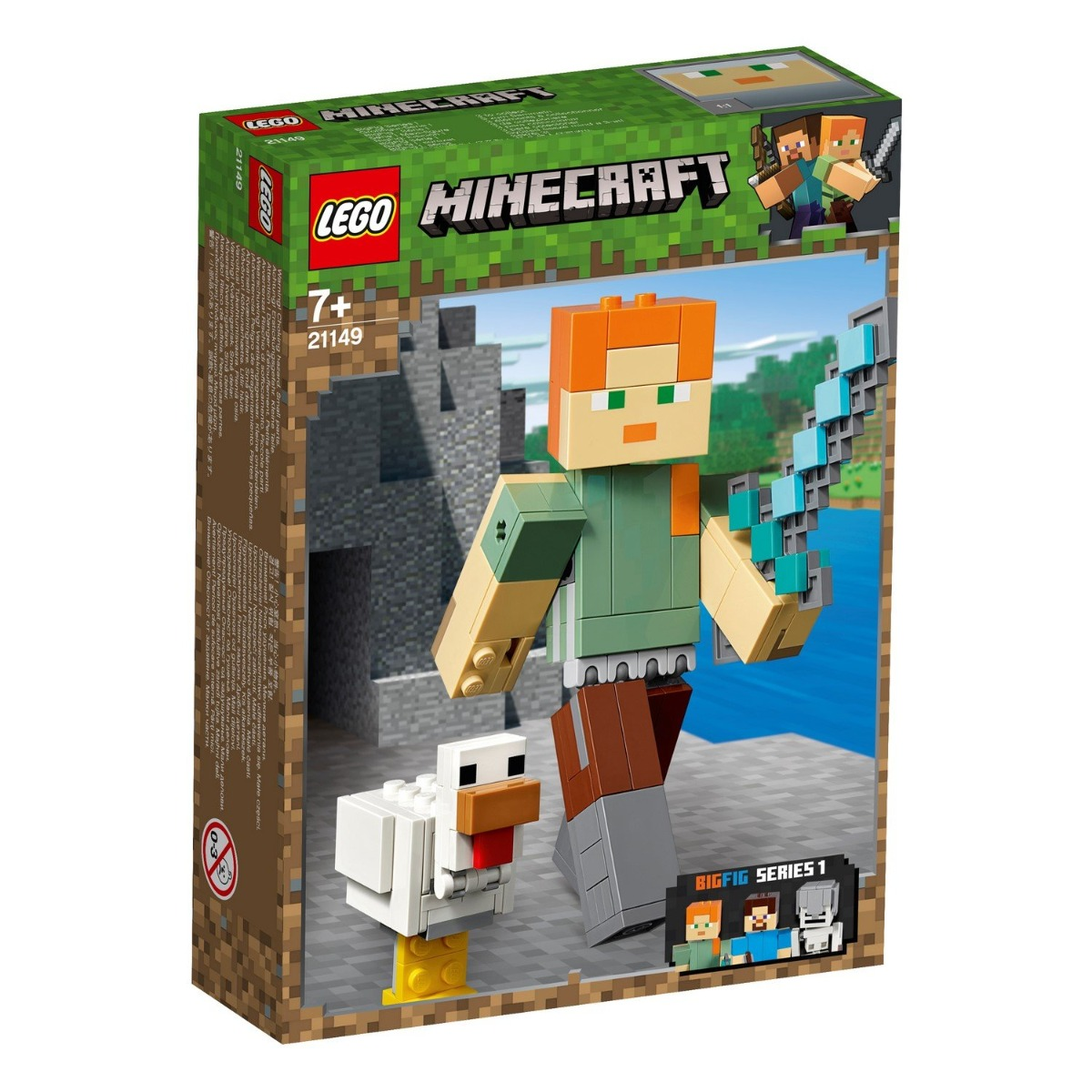 LEGO® Minecraft™ - Alex Minecraft BigFig cu gaina (21149)