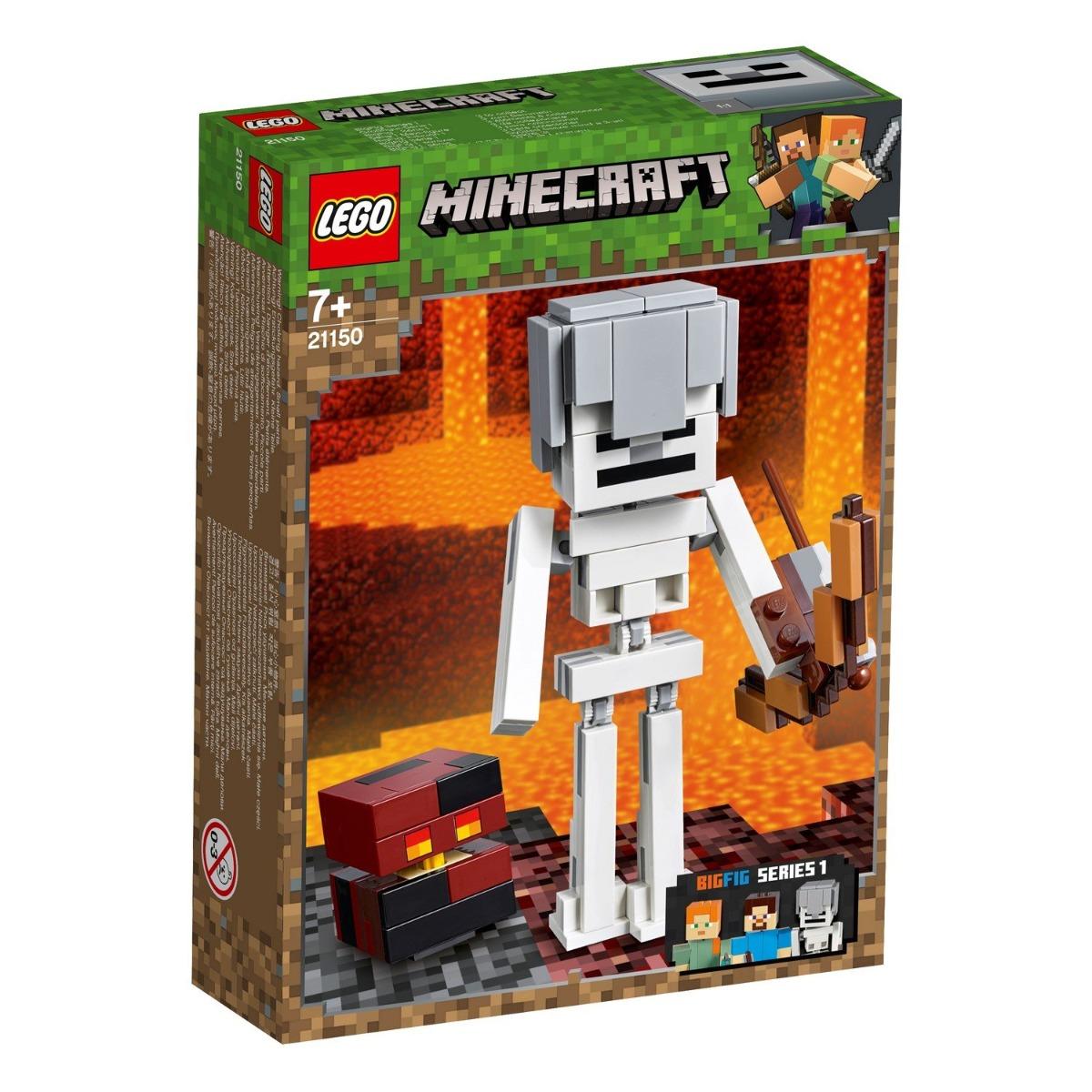 LEGO® Minecraft™ - Schelet Minecraft BigFig cu cub de magma (21150)