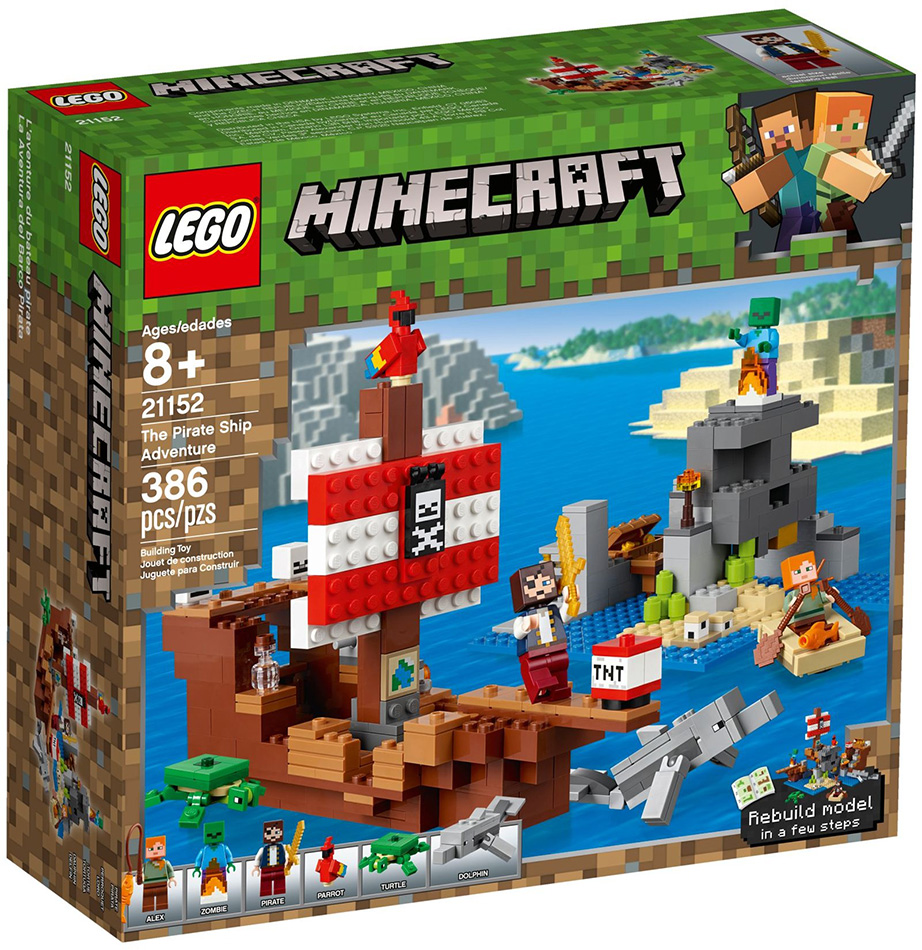 LEGO® Minecraft™ - Aventura corabiei de pirati (21152)