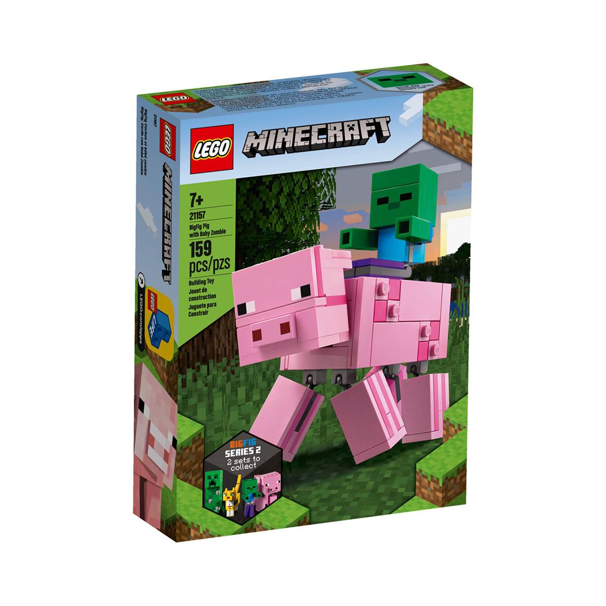 LEGO® Minecraft™ - Porc BigFig cu bebelus de zombi (21157)