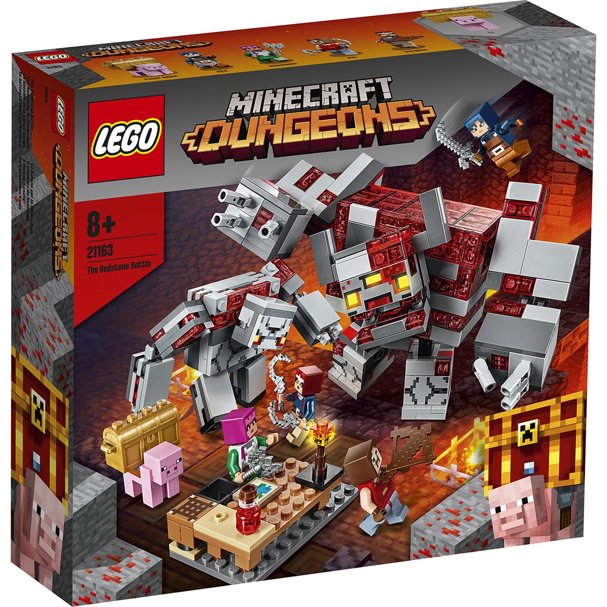 LEGO® Minecraft™ – Batalia pentru piatra rosie (21163)