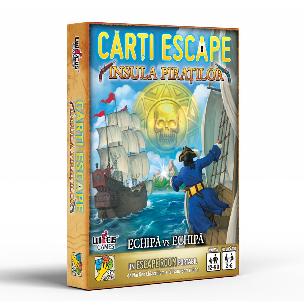 Joc de societate dV Giochi, Carti Escape, Insula piratilor