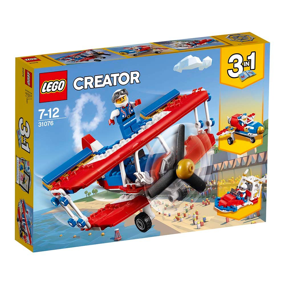 lego® creator - avionul de acrobatii (31076)