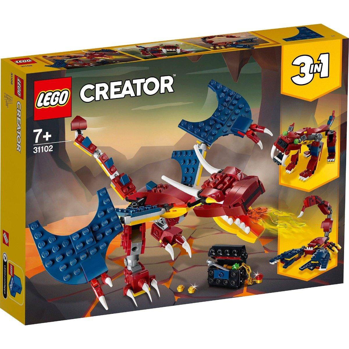 LEGO® Creator - Dragon de foc (31102)