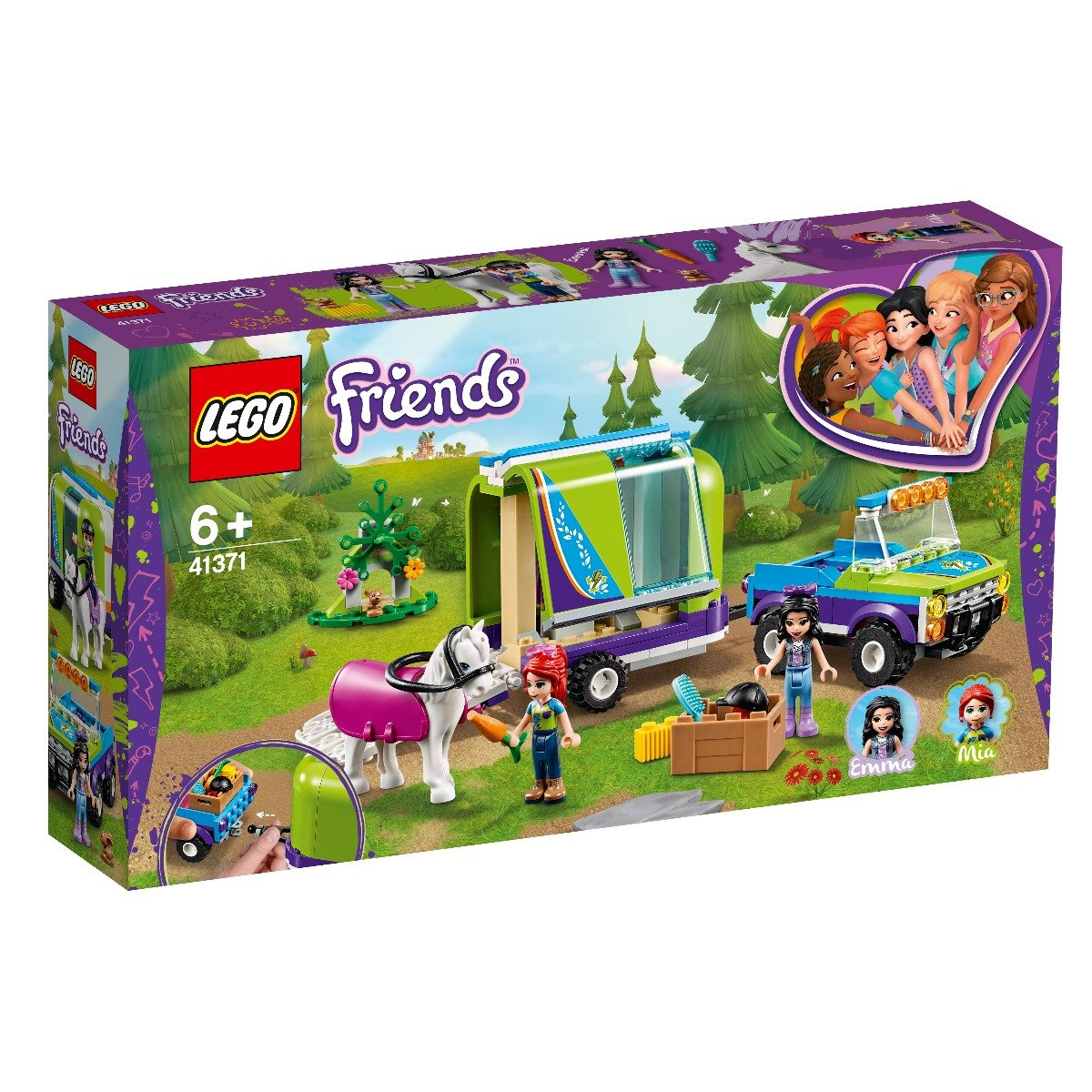 LEGO® Friends - Remorca de transport cai a Miei (41371)