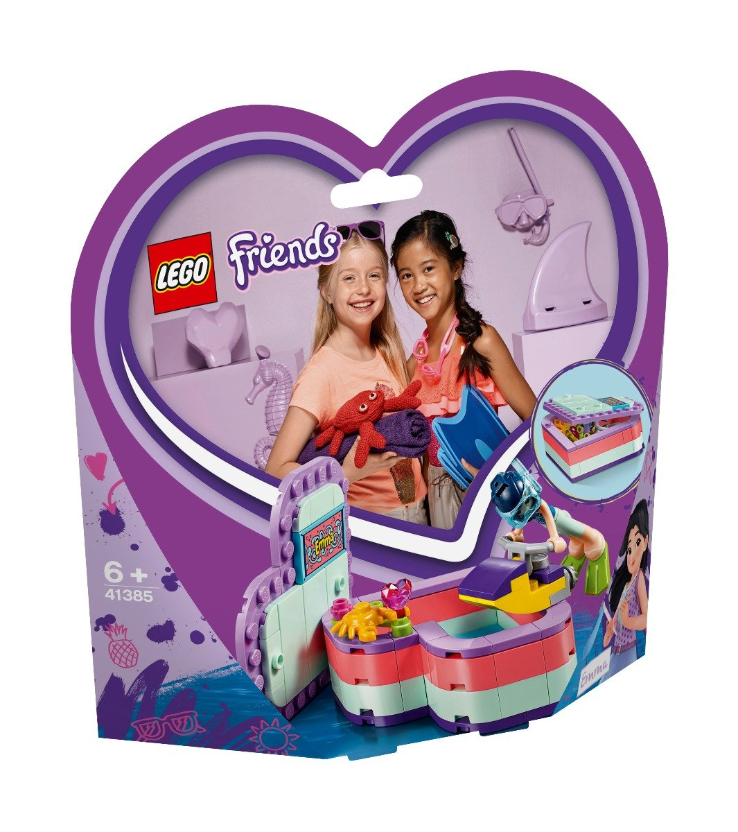 LEGO® Friends - Cutia de vara in forma de inima a Emmei (41385)