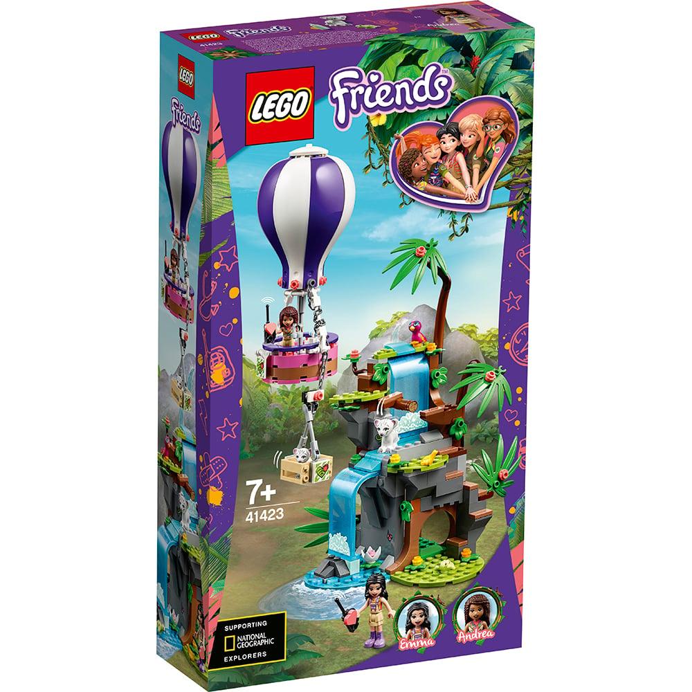LEGO® Friends - Salvarea tigrului din jungla cu balonul de aer cald (41423)