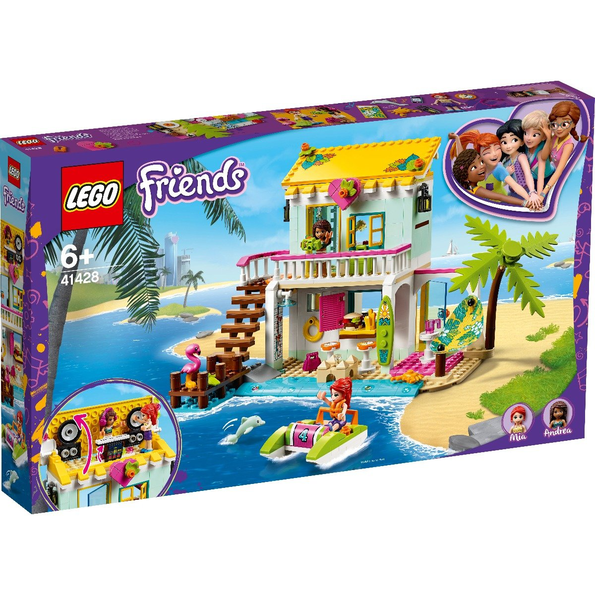 LEGO® Friends - Casa de pe plaja (41428) imagine 2021