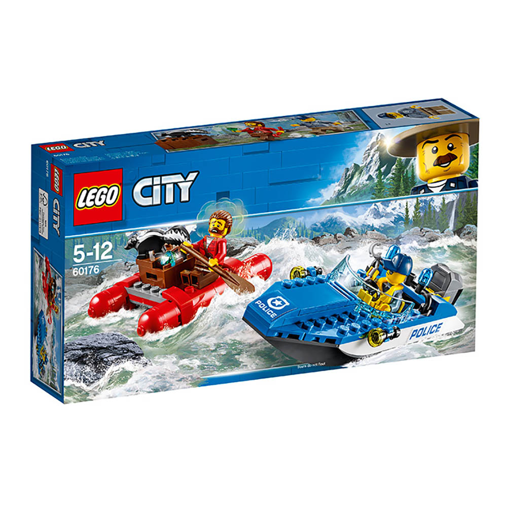 lego® city police - evadare pe rau (60176)