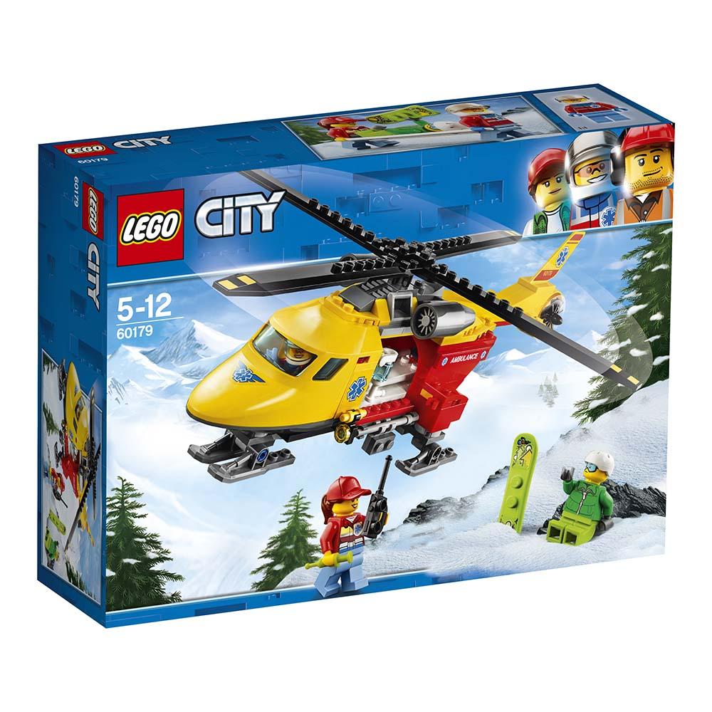 lego® city great vehicles - elicopterul ambulanta (60179)