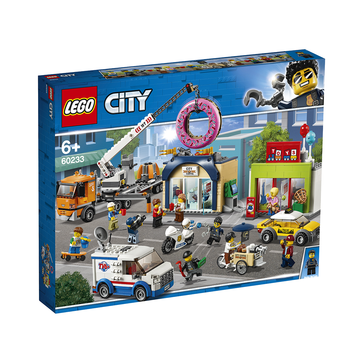 LEGO® City Town - Deschiderea magazinului de gogosi (60233)