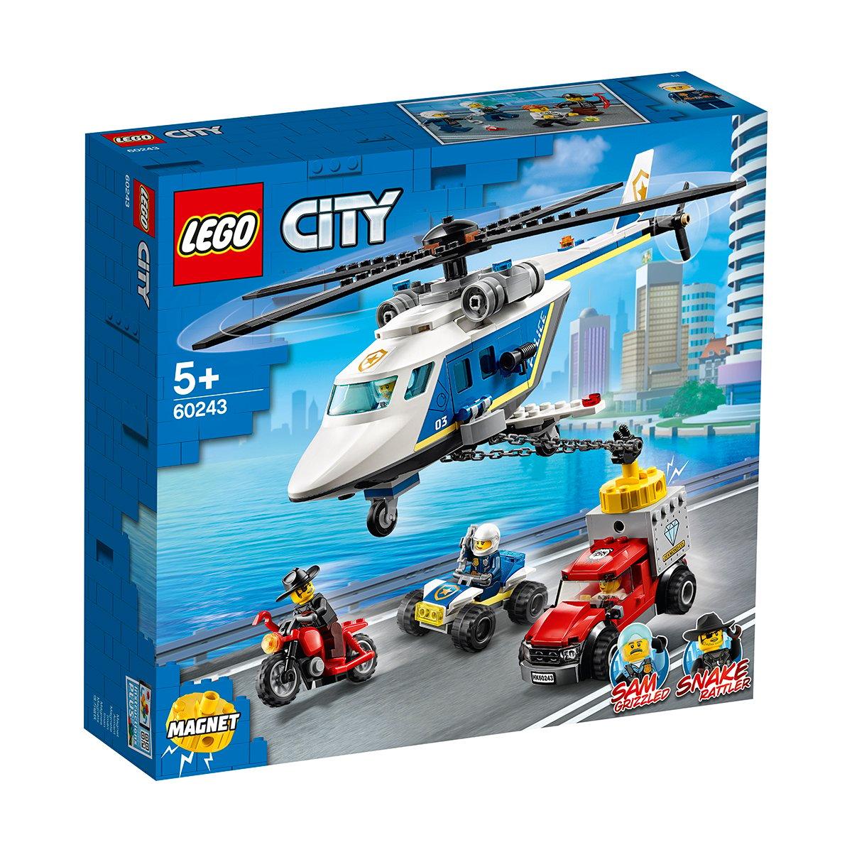 LEGO® City Police - Urmarire cu elicopterul politiei (60243)