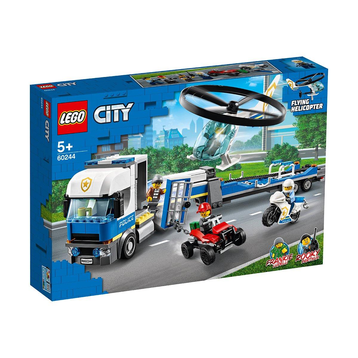 LEGO® City Police - Transportul elicopterului de politie (60244)
