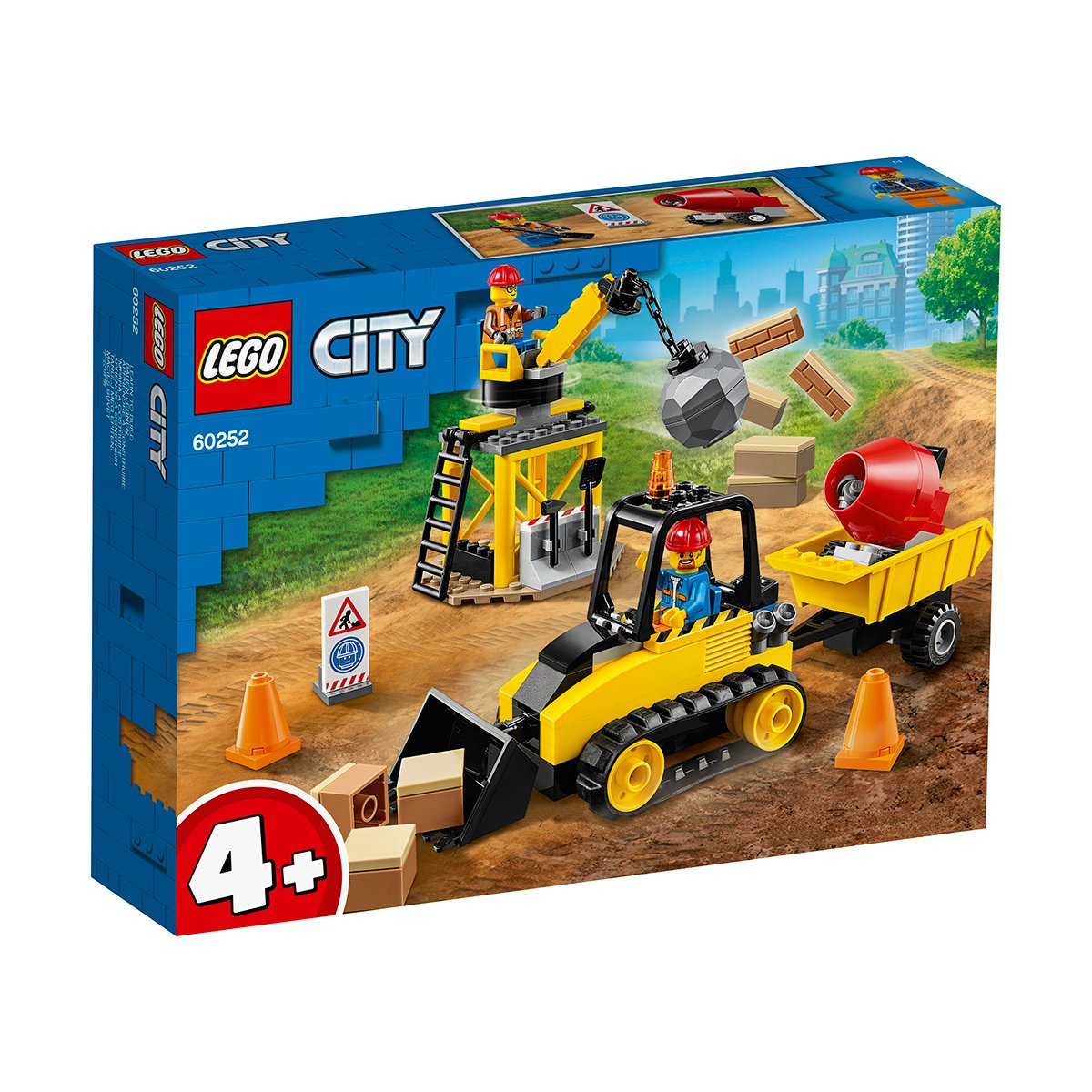 LEGO® City Great Vehicles - Buldozer pentru constructii (60252)