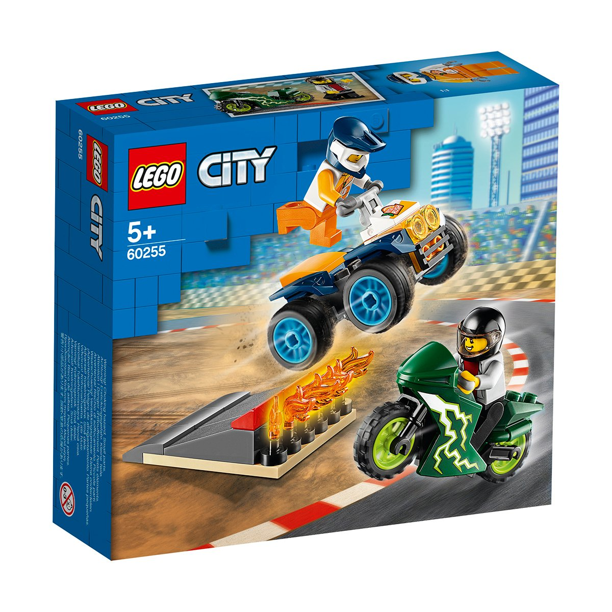 LEGO® City Great Vehicles - Echipa de cascadorii (60255)