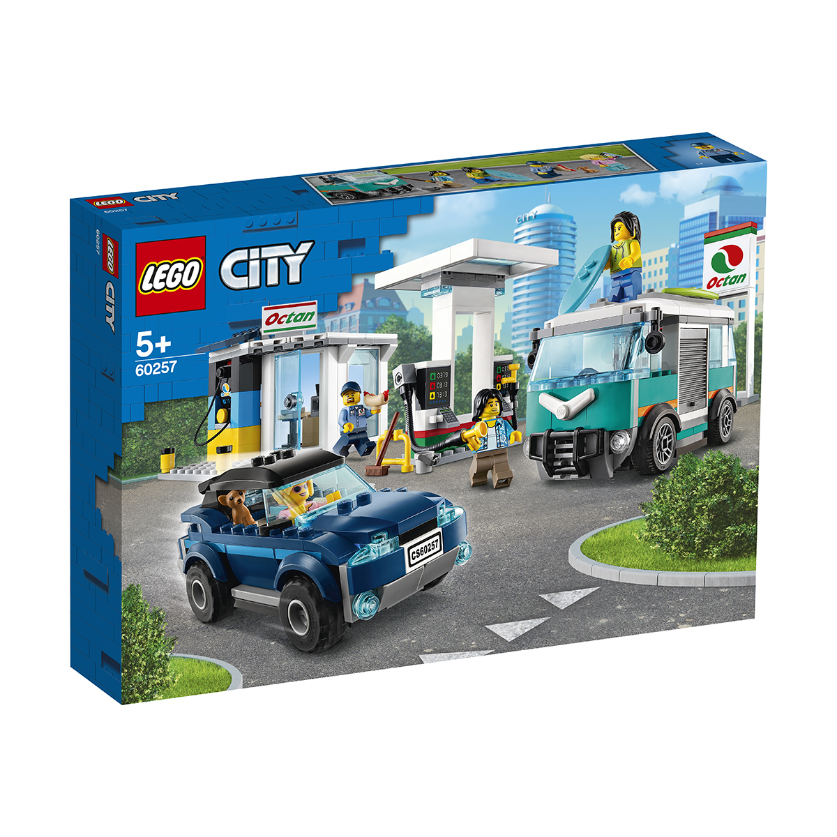 LEGO® City Great Vehicles - Statie de service (60257)