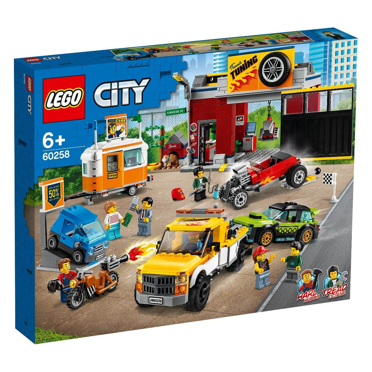 LEGO® City Nitro Wheels - Atelier de tuning (60258)