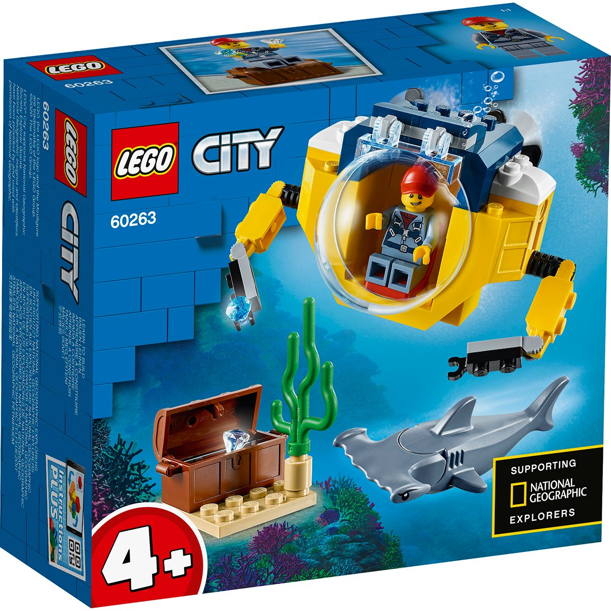 LEGO® City - Minisubmarin oceanic (60263)