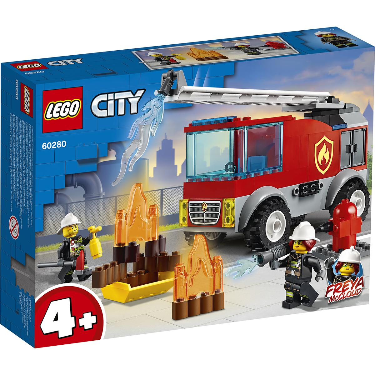 LEGO® City - Camion de pompieri cu scara (60280)