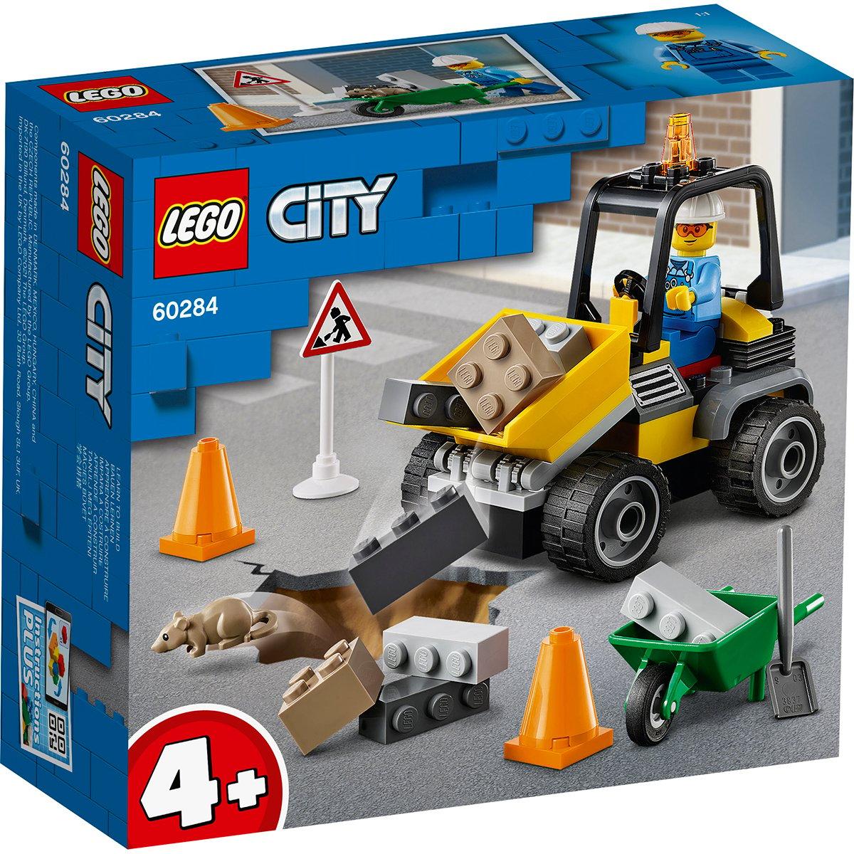 LEGO® City - Camion pentru lucrari rutiere (60284)