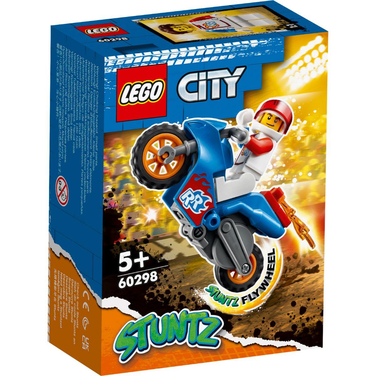 LEGO® City - Motocicleta de cascadorie-racheta (60298)