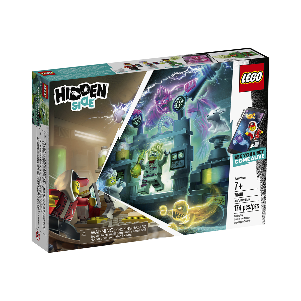 LEGO® Hidden Side™ - Laboratulul cu fantome al lui J. B. (70418) imagine 2021