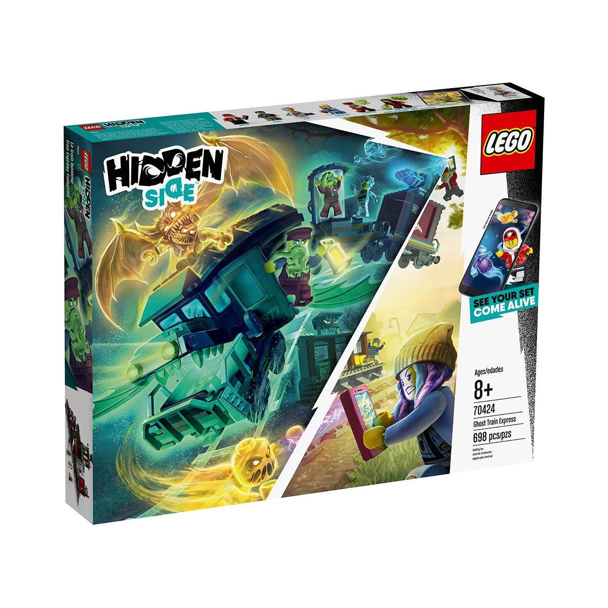LEGO® Hidden Side™ - Trenul expres al fantomelor (70424)
