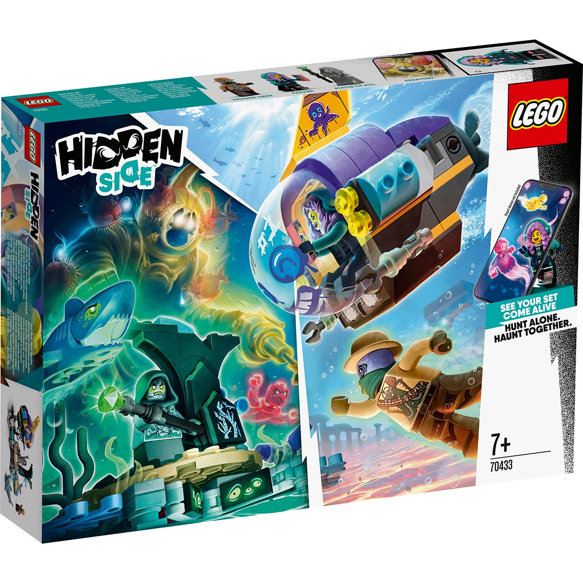 LEGO® Hidden Side™ - Submarinul lui JB (70433)