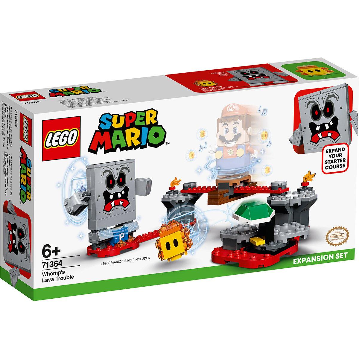 LEGO® Super Mario - Set de extindere Pericolul Lavei lui Whomp (71364)