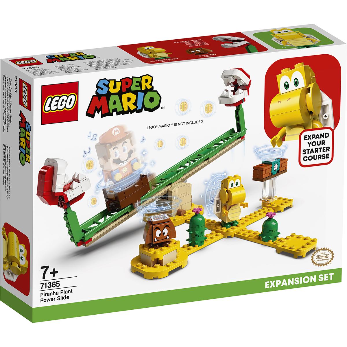 LEGO® Super Mario - Set de extindere Toboganul Plantei Piranha (71365)