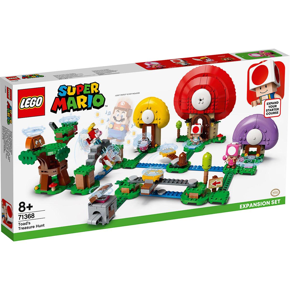 LEGO® Super Mario - Set de extindere Vanatoarea de Comori a lui Toad (71368)