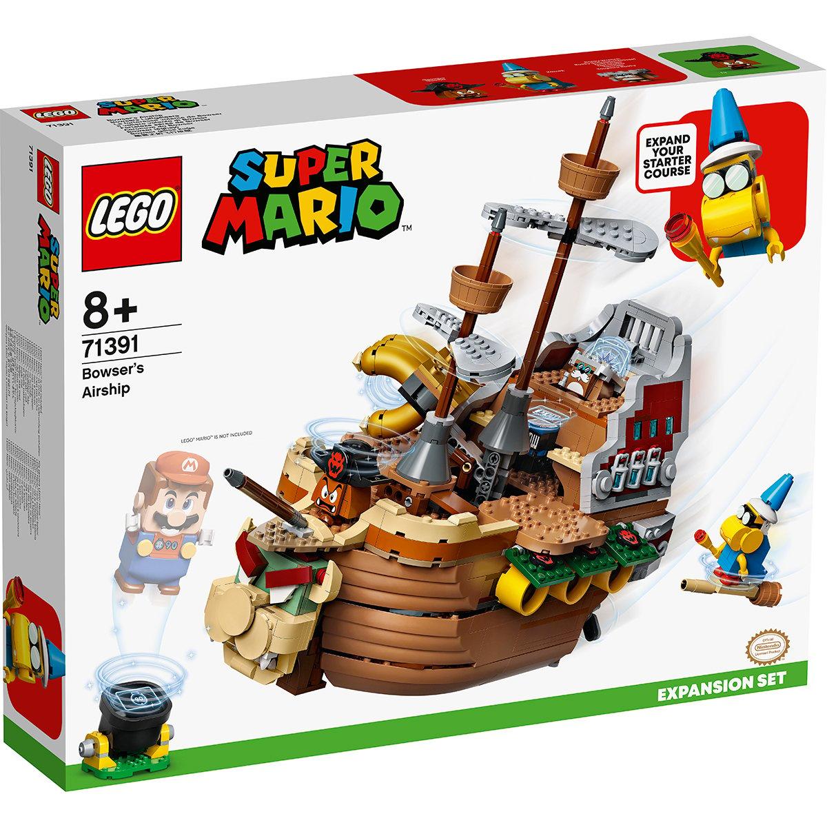 LEGO® Mario - Set De Extindere Nava Zburatoare A Lui Bowser (71391)