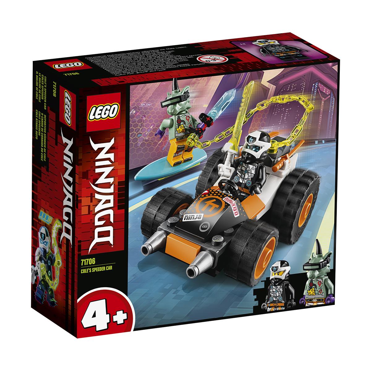 LEGO® Ninjago® - Masina de viteza a lui Cole (71706)