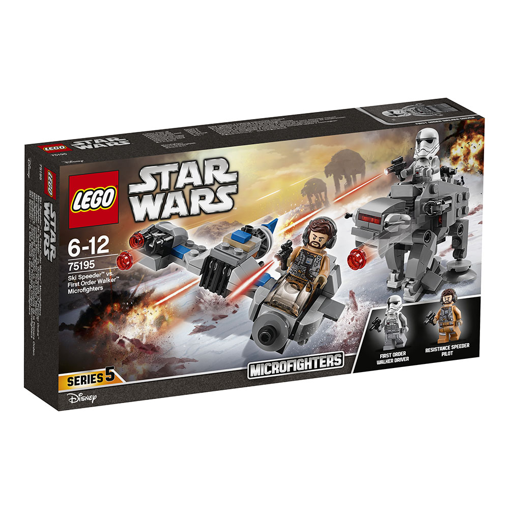 lego® star wars™ - ski speeder contra walker al ordinului intai microfighters (75195)