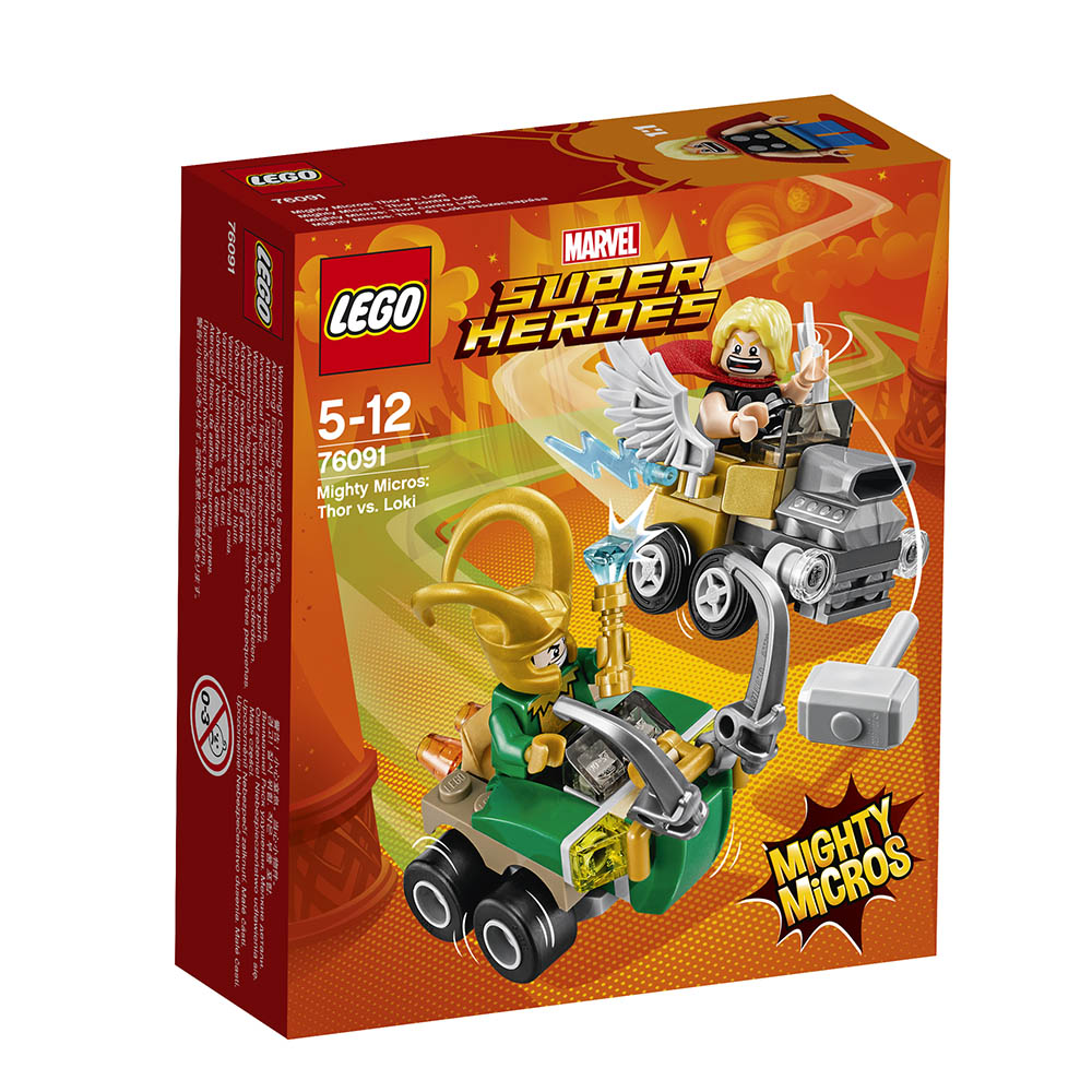 lego® super heroes mighty micros thor contra loki (76091)