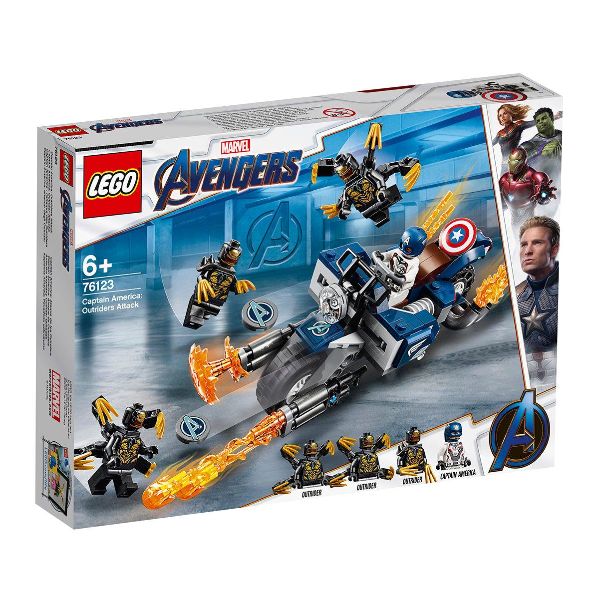 LEGO® Marvel Avengers - Captain America: Atacul Outriderilor (76123)