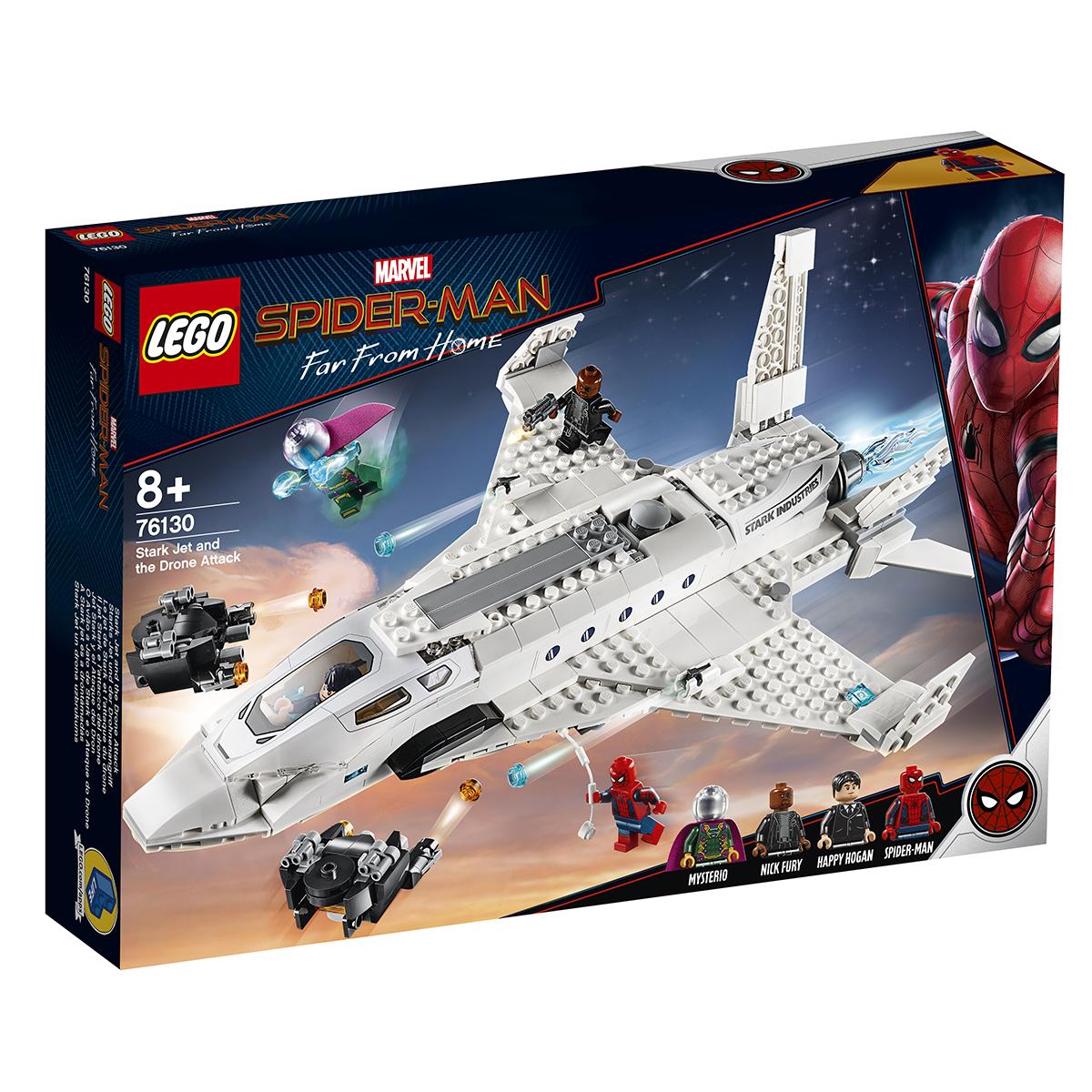 Lego® Marvel Super Heroes - Avionul Stark Si Atacul Dronei (76130)