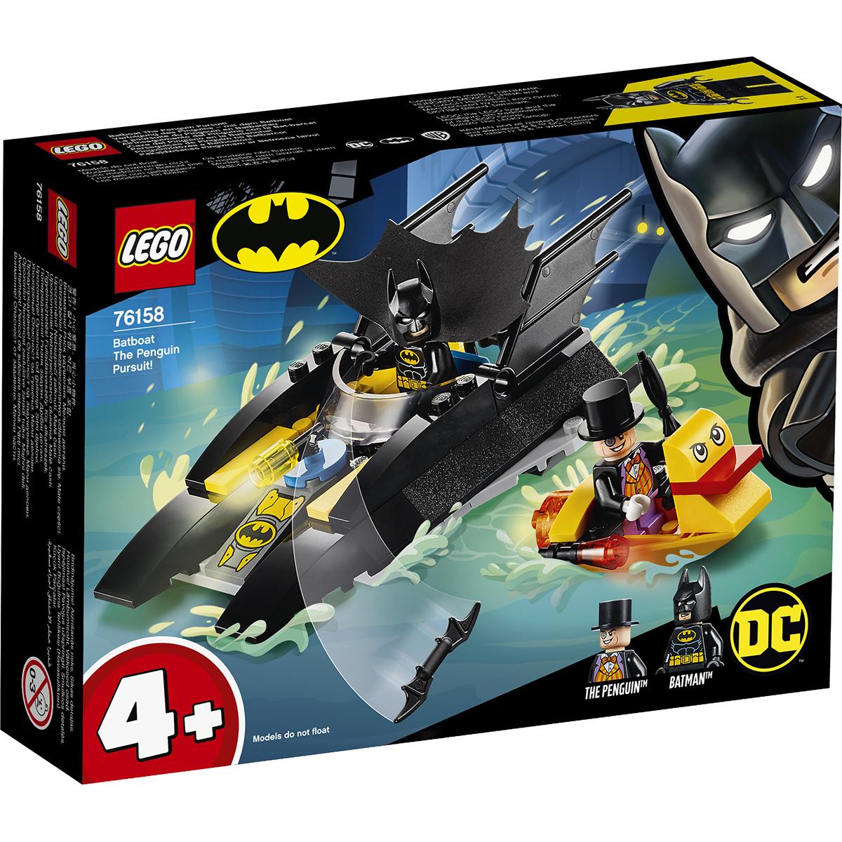 LEGO® DC Comics Super Heroes - Urmarirea Pinguinului cu Batboat! (76158)