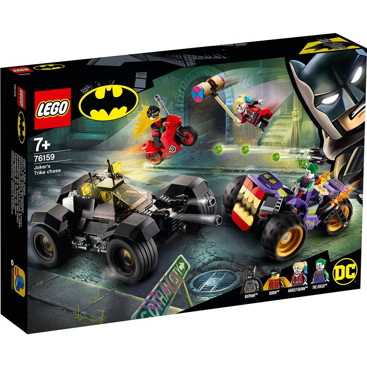 LEGO® DC Comics Super Heroes - Urmarirea lui Joker cu mototriciclul (76159)
