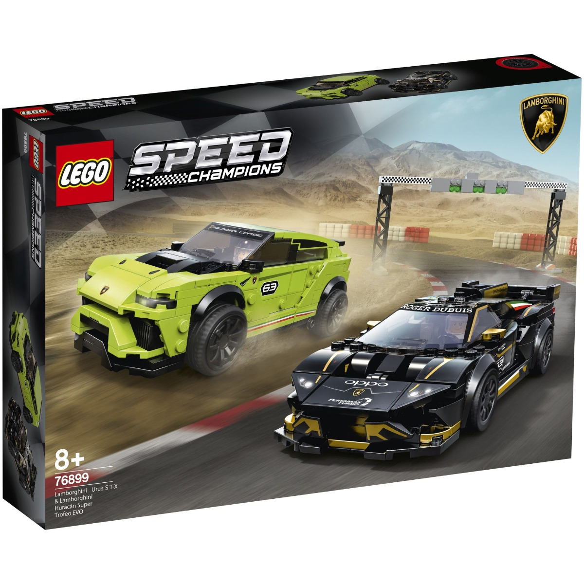 Lego® Speed Champions - Lamborghini Urus St-x & Lamborghini Huracán Super Trofeo Evo (76899)