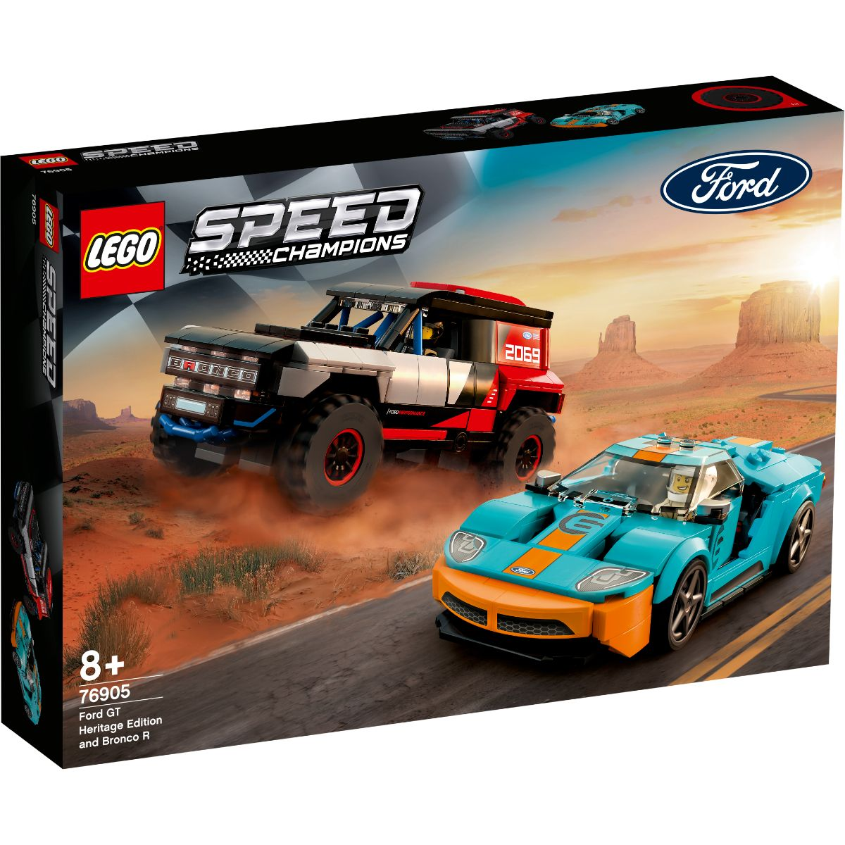 LEGO® Speed Champions - Ford GT Heritage Edition si Bronco R (76905)