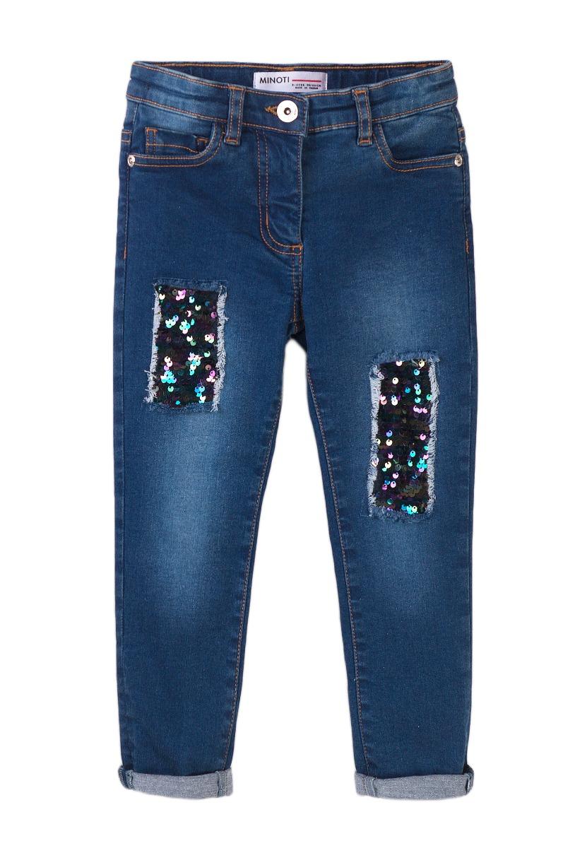 Pantaloni Jeans cu paiete Minoti