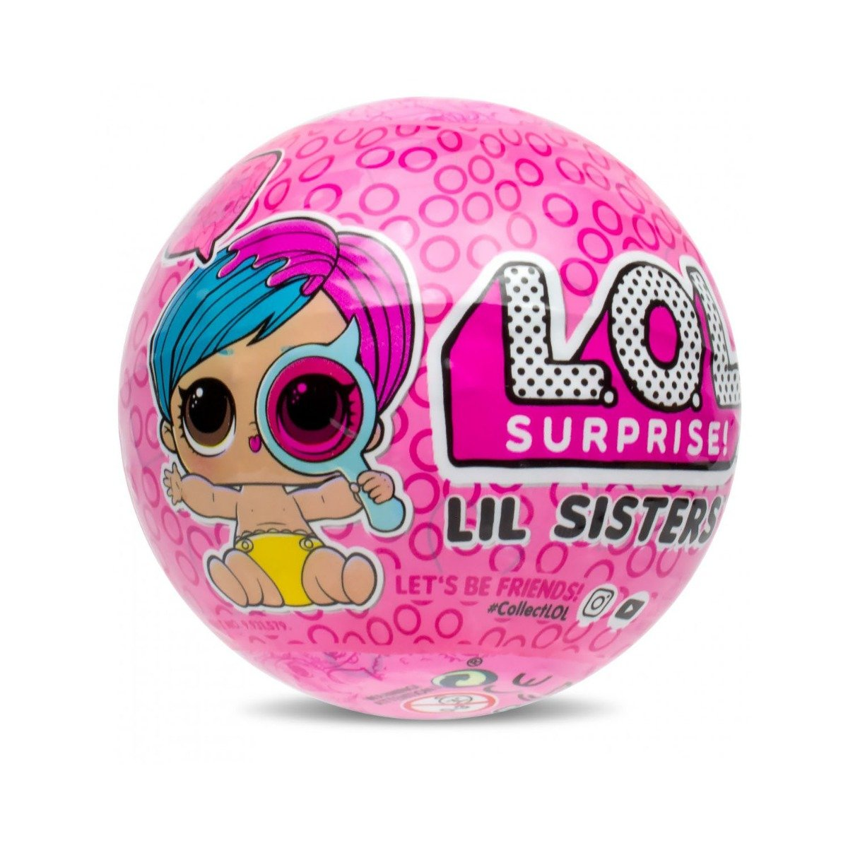 Poza Papusa LOL Surprise Ball - Lil Sisters, 5 piese (Eye Spy, Wave 1)