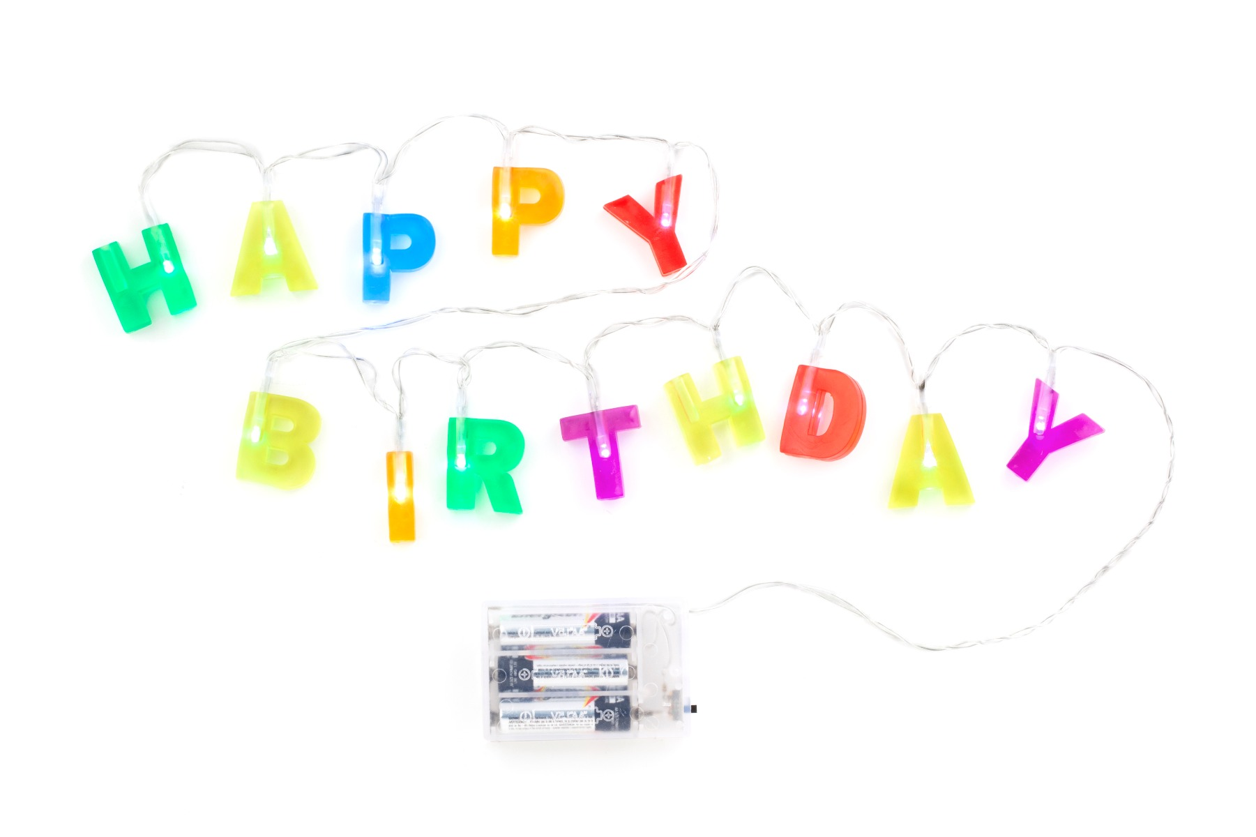 Instalatie becuri Happy Birthday imagine