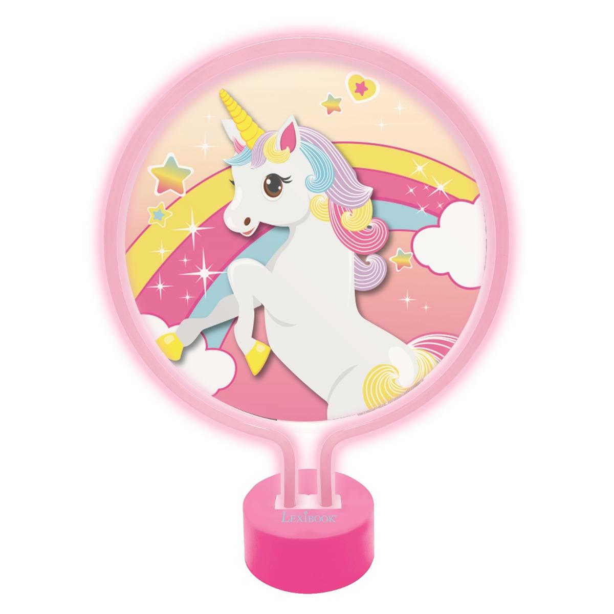 Veioza decorativa Neon Lexibook, Unicorn