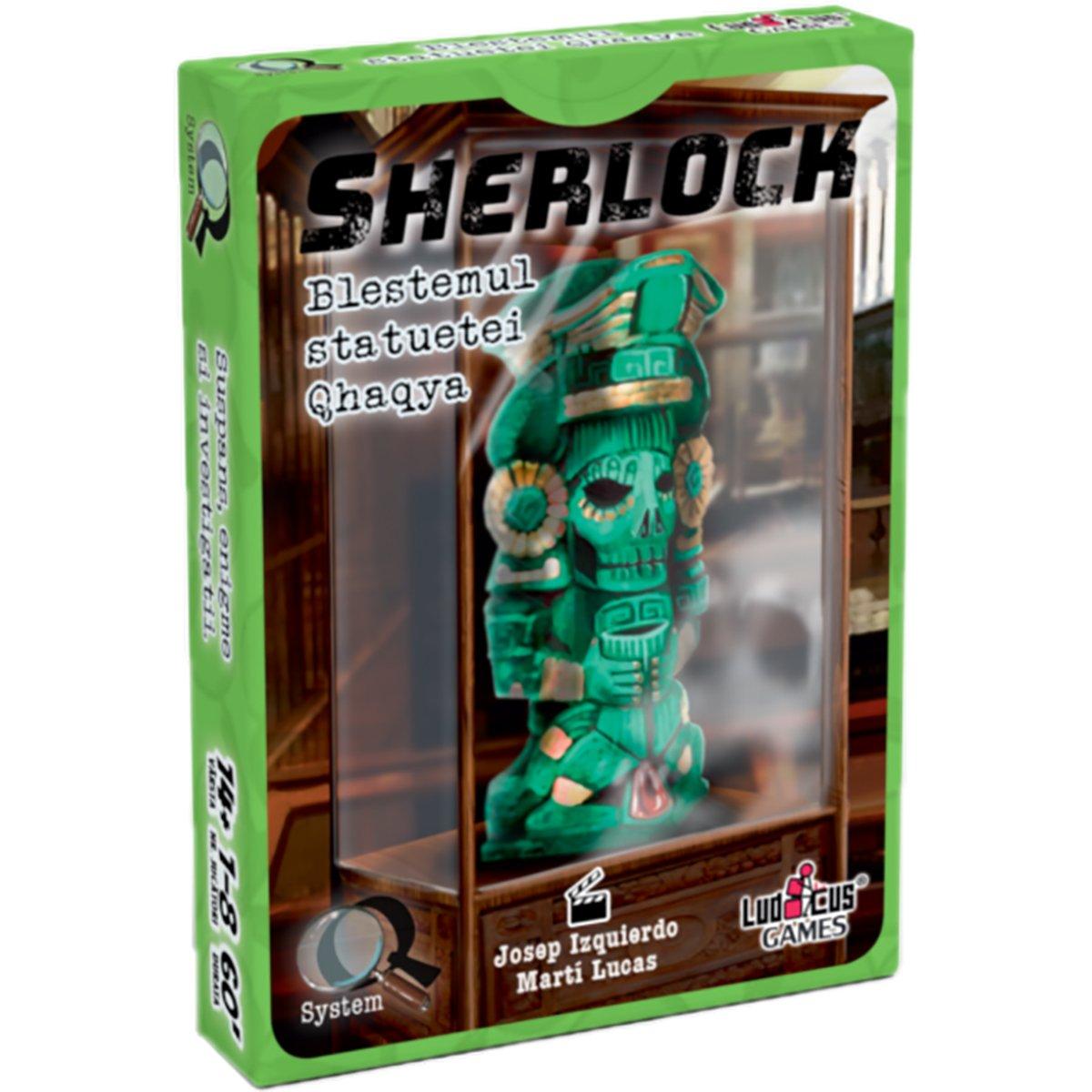 Joc de societate Enigma Studio, Sherlock, Q3 Blestemul statuetei Qhaqya