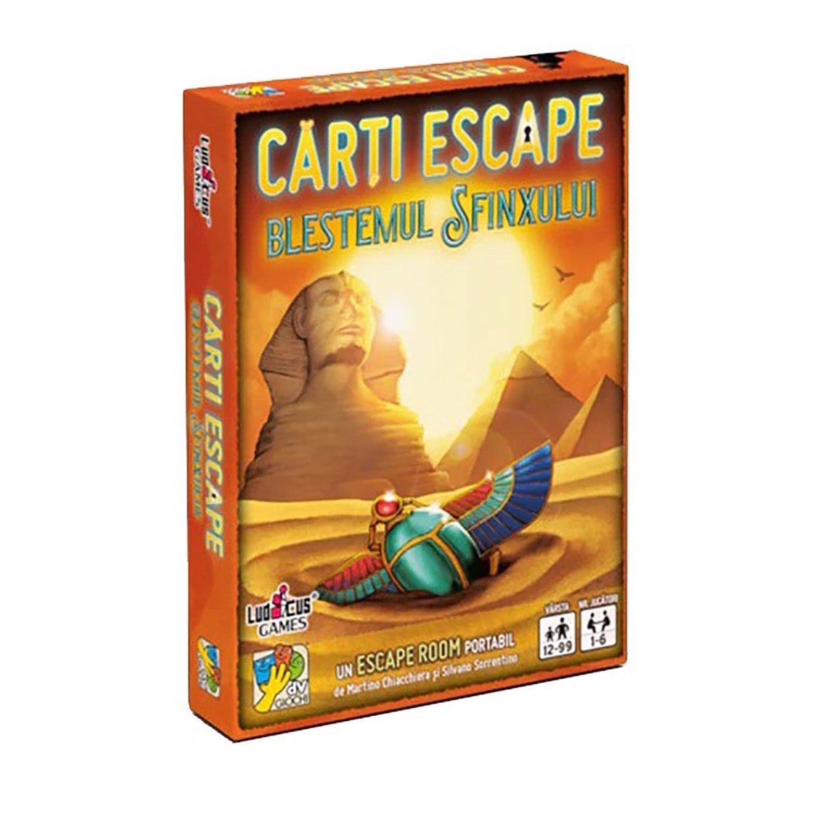 Joc de societate dv Giochi, Carti Escape Ed. II, Blestemul Sfinxului