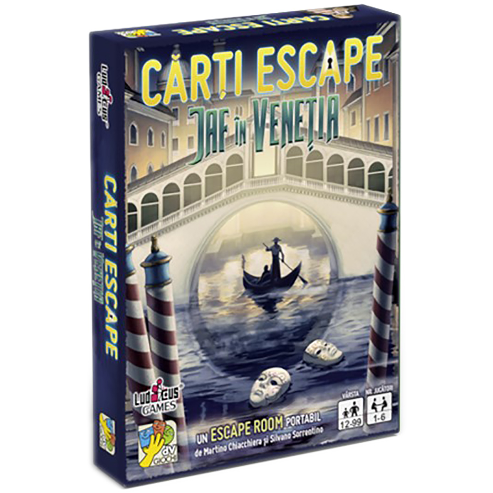 Joc de societate dv Giochi, Carti Escape Ed. II, Jaf in Venetia