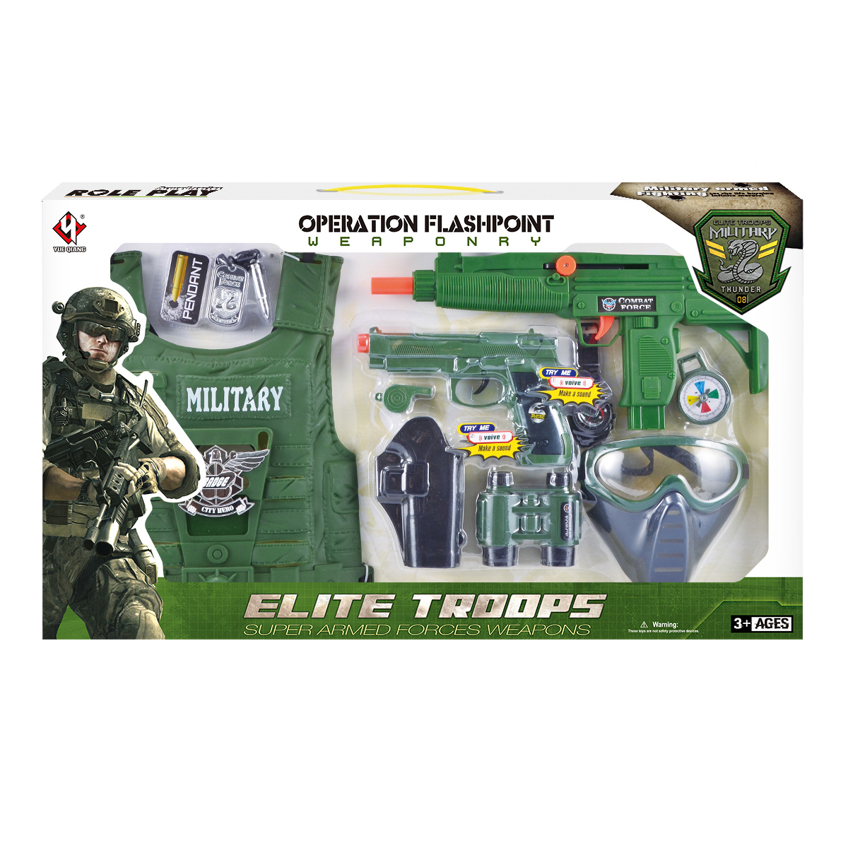 Set Accesorii Armata Military Thunders, 10 Piese