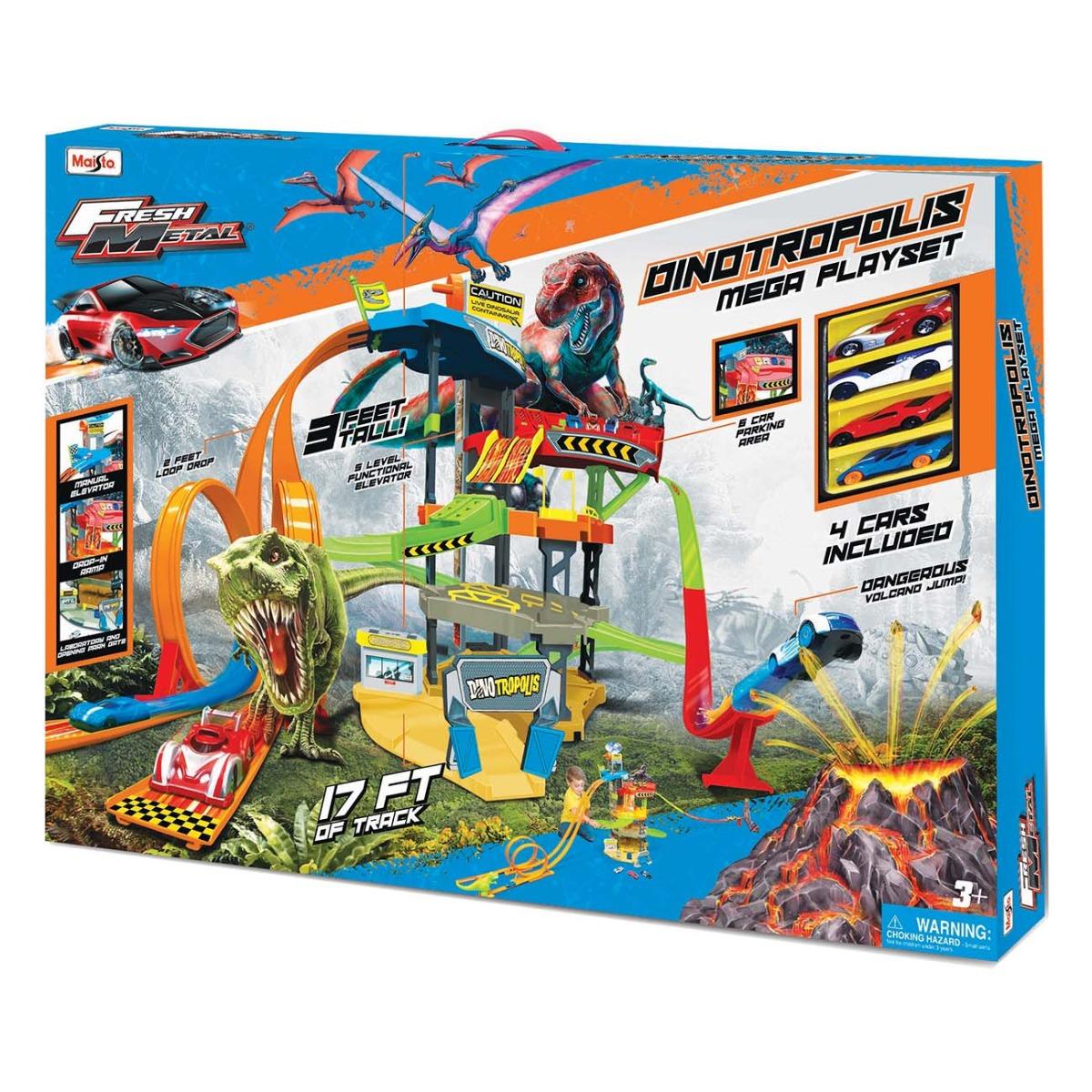Set de joaca Parcare supraetajata cu 5 nivele Maisto Dinotropolis